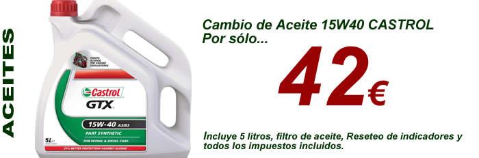 Aceite 15w40 castrol gtx por solo 42 euros