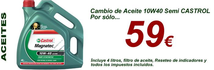Aceite 10w40 castrol magnatec por solo 59 euros