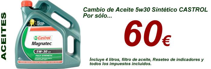 Aceite 5w30 castrol gtx por solo 60 euros