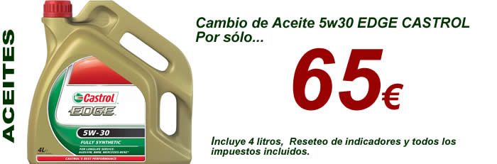 Aceite 5w30 castrol edge por solo 65 euros