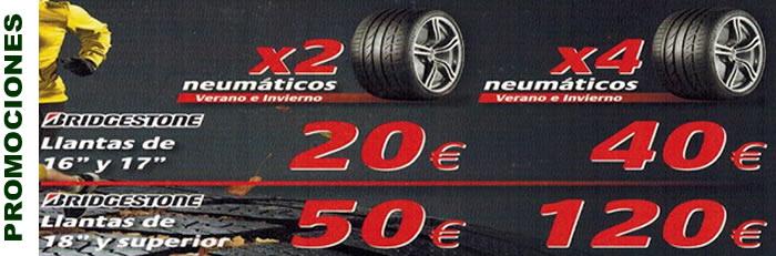 neumáticos BRIDGESTONE a un precio increible